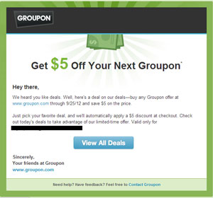 groupon promotion